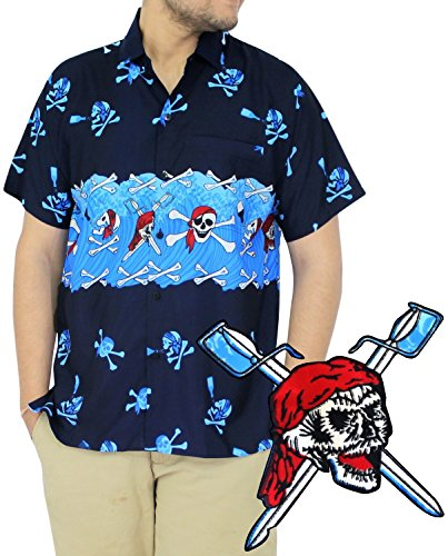 [La Leela Matching hawaiian shirt and dresses mens 70s 80s 90s retro Vintage Island mens Shirt XS Blue Fathers Day Gifts Spring Summer] (80s Male Fashion)