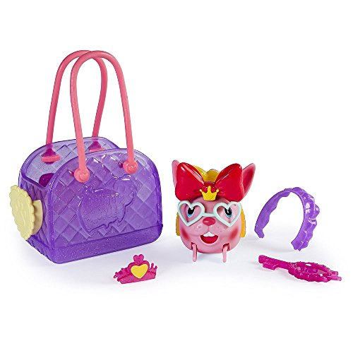 Spin Master Chubby Puppies & Friends Rosy Satin Pink Bunny with Carrier (Spin Satin)
