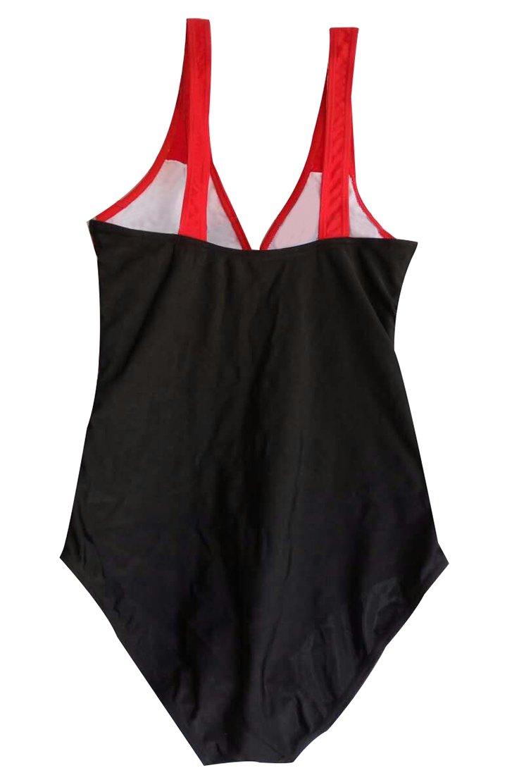 DFXIU Monokinis Costume Intero Imbottito Donne Sexy V-Collo Costumi Da Bagno Un Pezzo Del Cuciture A Colori Beachwear