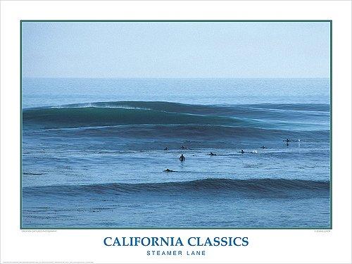California Classics Steamer Lane Surfing Poster
