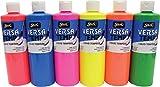 Sax Versatemp Tempera Paints, Assorted Fluorescent Colors, Set of 6