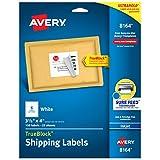 Avery Shipping Address Labels, Inkjet Printers, 150 Labels, 3-1/3x4 Labels, Permanent Adhesive, TrueBlock (8164), White