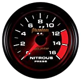 Auto Meter 7574 Phantom II 2-1/16'' 0-1600 PSI Full Sweep Electric Nitrous Pressure Gauge