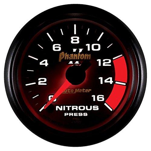 Ultra Lite Nitrous Pressure Gauge - Auto Meter 7574 Phantom II 2-1/16