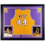 a43dcda3977 Jerry West Autographed Signed Lakers 35x43 Deluxe Framed Jersey - JSA  Certified.