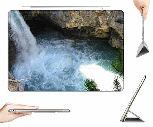 iRocket iPad Air 2 Case + Transparent Back Cover, Jasper Waterfall, [Auto Wake/Sleep Function] (Black Water Jasper)