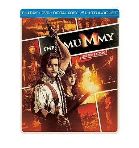 The Mummy (1999) (Steelbook) (Blu-ray + DVD + Digital Copy + UltraViolet) by Universal Studios (Universal Studios Steelbook)