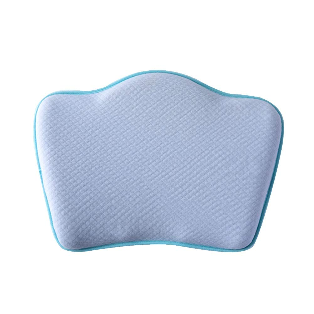 Baby Pillow, Head Shape Pillow 0-3 Years Old, Children's Newborn Baby Corrective Head Type Summer Breathable (Color : Blue)