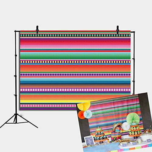 Fiesta Backdrop - Daniu Color Fiesta Theme Party Stripes