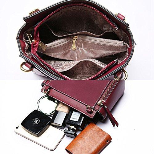 Minotta Morado Sintético Mujer de mano MinottaUKD6044 bolso de elegante Z7ZTw1q