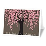 Fabulous Stationery Sakura Bridal Shower Fill-In Invitations, Multi-color, 12 (WI-21)