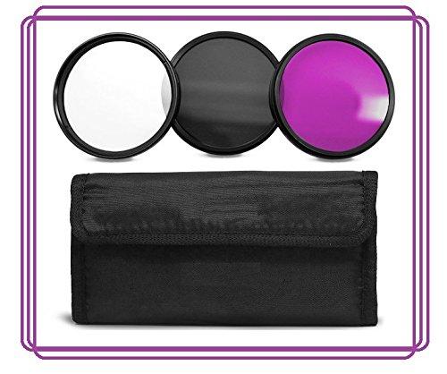 58MM Lens Filter Accessory Kit (UV, CPL, FLD filters) for Canon EOS Rebel T6s, T6i, SL1, T5, T5i, T4i, T3, T3i, T1i, T2i, XSI, XS, XTI, XT, 70D, 60D, 60Da, 50D, 40D, 30D, 20D, 10D, 7D, 6D, 5D, 5DS, 5DS R, 1D, 5D, 7D Digital SLR Cameras (Compatible With 18-55mm, 55-250mm, 75-300mm, 50mm 1.4 , 55-200mm. 70-300mm Lens)