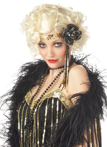 Flapper Baby Costume (California Costumes Women's Jazz Baby Wig,Multi,One)