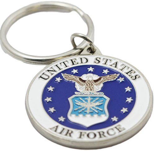 Air Force Logo Key Ring Military Key Chains Collectibles Gifts Men Women Veterans Air Force Key Ring