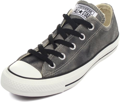 Converse Womens All Star Suede Ox (Converse Unisex Chuck Taylor? All Star? Tie Dye Suede Ox Old Silver/Black Men's 8, Women's 10 Medium)