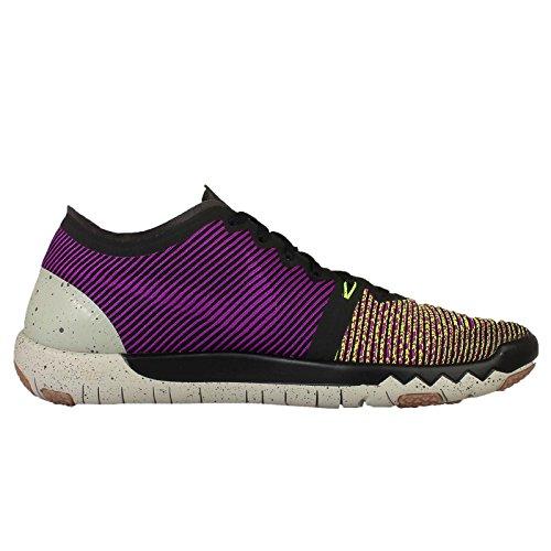 Nike Heren Gratis Trainer 3.0 V4, Zwart / Volt-levendige Paars-maan Grijs, 8,5 M Ons