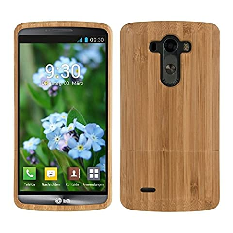 kwmobile Natural wood case for the LG G3 in bamboo brown (Real Wood Cover For Lg G3)