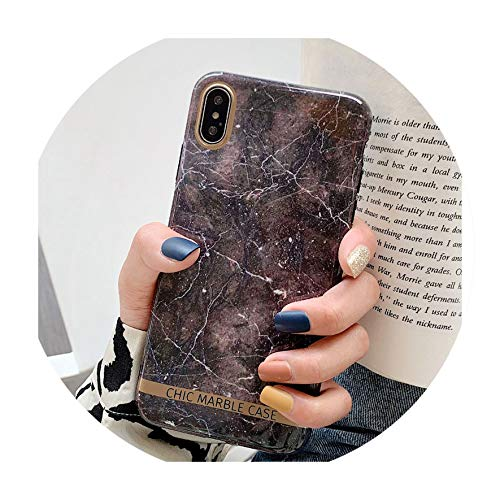 - Veined Marble for iPhone X XR XS Max 10 7 6 6s 8 Plus Smooth Surface IMD Golden Edge Fashion Phone Cases,Style B,for iPhone X
