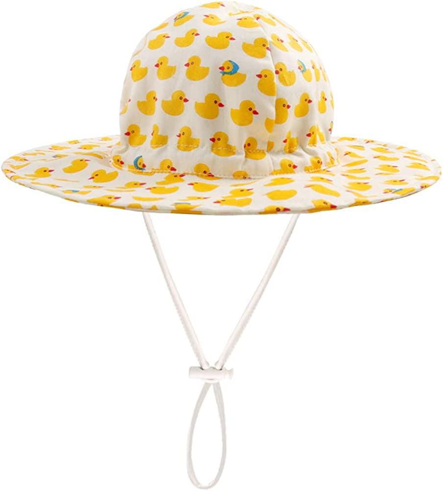 HAIGOU Spring Summer Cotton Baby Girl Sun Hat Beach Hat Outdoor Hat