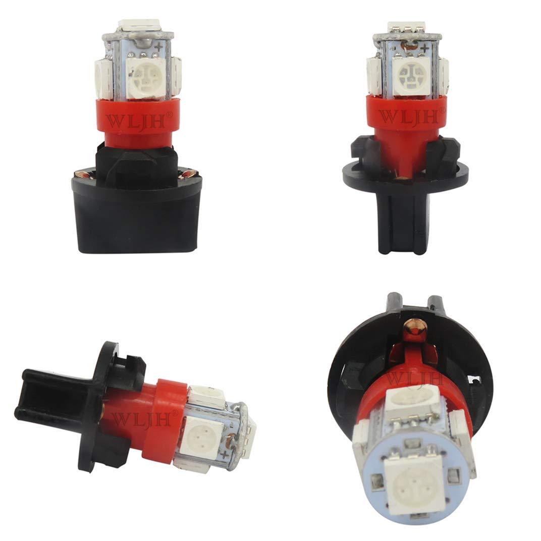 WLJH Lot de 6 ampoules LED T10 Rouge 168 LED PC194 PC195 PC168 Panneau dinstrument Manom/ètre Compteur de vitesse Lampe Miniature Tableau de bord avec Socle 13 mm Douilles Twist Lock