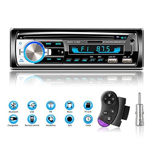 Lifelf Bluetooth Car Stereo, Car Radio 65W X 4 FM Radio Hands Free Calling with Wireless Remote Control Single Din MP3…