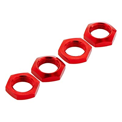 ARRMA AR330360 Aluminum Wheel Nut 17mm Red Nero (4) R/C Car Part: Toys & Games [5Bkhe1006912]