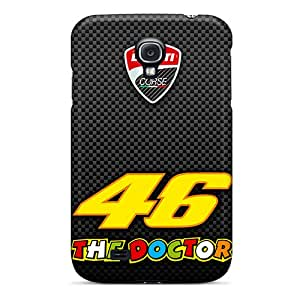 Perfect Cell-phone Hard Covers For Samsung Galaxy S4 With Support Your Personal Customized Vivid Valentino Rossi Pictures IanJoeyPatricia