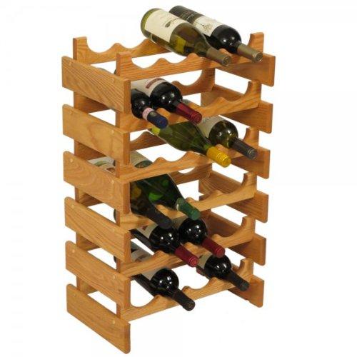 SKB family 24 Bottle Dakota Wine Storage Rack, 17.625'' x 28.375'' x 10.75'' x 8 lbs, Unfinished by SKB family (Image #4)