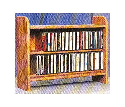 2 Shelf CD Storage (Honey - Storage 165 Rack Cd