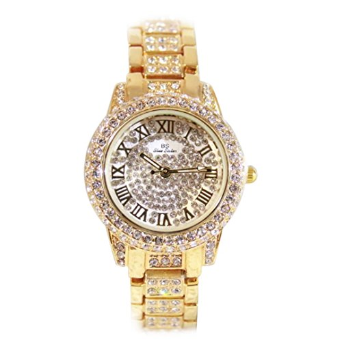 Women Wrist Watched Fashion Jewerly Rose-gold Plated Waterproof