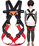 Freezx Kids' Climbing Full Body Harness Safe Belts Guide Harness, for Outward Band Expanding Training, Caving Rock Climbing Rappelling Equip Safety Comfort