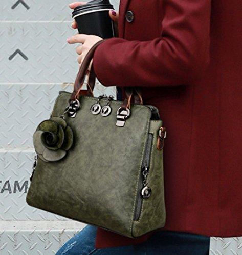 Lady Capacity Shoulder Bag Green Large Travel Fashion Messenger Bag Handbag F4FrqwZxt