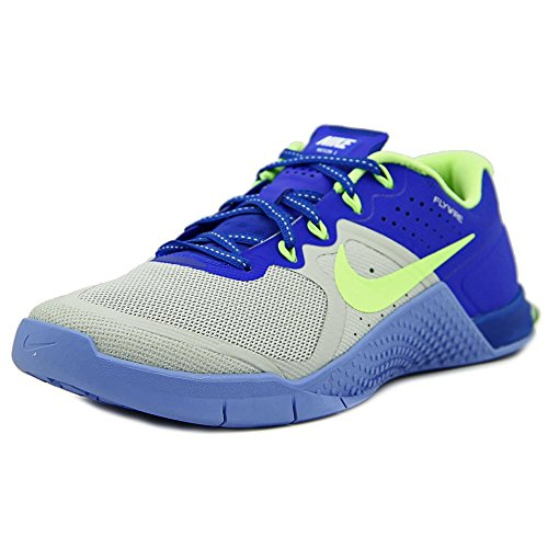 NIKE Women's Metcon 2 Ankle-High Fashion Sneaker Pure Platinum/Ghost Green/Racer Blue/Chalk