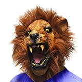 Monstleo Latex Rubber Lion Head Mask Halloween Party Costume Decorations Masks
