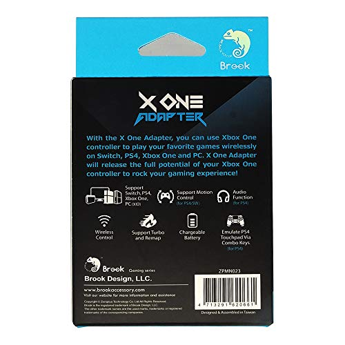 Amazon.com: Brook X One Adapter for Xbox One to PS4 Switch ...
