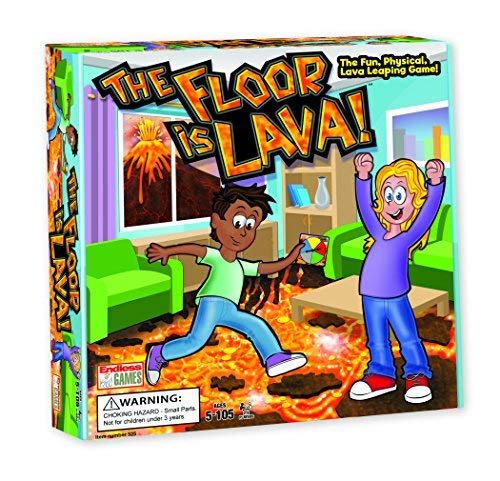 The Floor is Lava! Interactive Board Game for Kids and Adults (Ages 5+) Fun Party, Birthday, and Family Play | Promotes Physical Activity | Indoor and Outdoor Safe from Endless Games