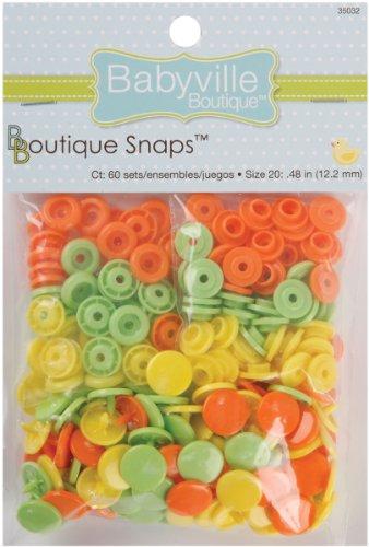 Babyville Boutique 35032 Snaps, Size 20, Green, Yellow & Orange -