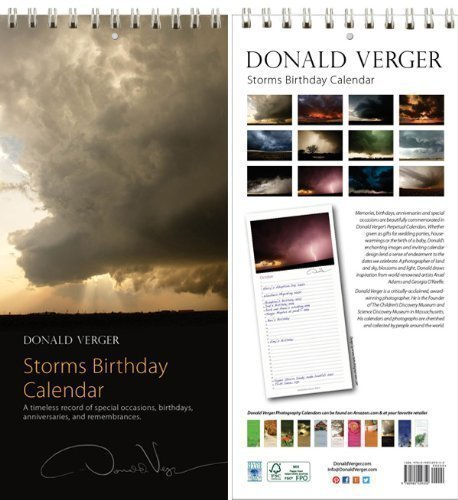 Storms Birthday and Anniversary Perpetual Calendar. A Unique Valentine's Day Gift. Best Quality Wall or Desk. 11x5. (Perpetual Wall Calendar)