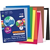 Pacon Riverside Construction Paper, 9-Inches by 12-Inches, 50-Count, Assorted (103637)
