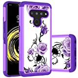 LG V50 ThinQ Case LG V50 Case, Yuanming Hybrid Dual Layer TPU & Hard Back Cover Bumper Protective Shock-Absorption & Skid-Proof Anti-Scratch Hybrid Case for LG V50 ThinQ ((Purple)