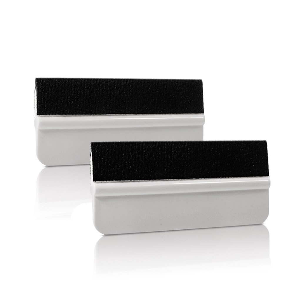 Ehdis® 5PCS Soft Vinyl Wrap Tool Mini Window Tint Film Installing Squeegee Vinyl Film Applicator Scraper for Vinyl Wraps & Decals with Black Fabric Felt