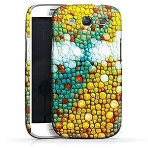 Carcasa Design Funda para Samsung Galaxy S3 i9300 / LTE i9305 PremiumCase white - Chamäleon