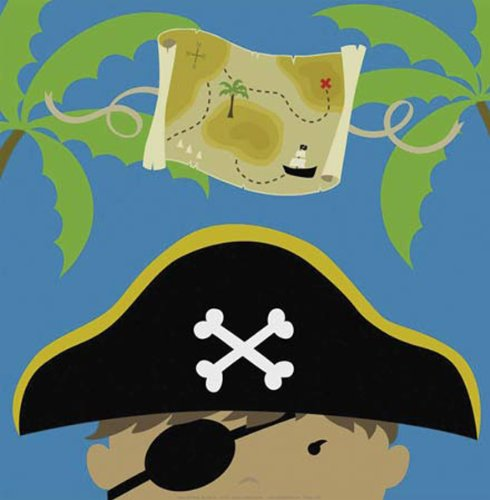 Peek-A-Boo Pirate by Yuko Lau Childrens Print Poster (Peek A-boo Pirate)