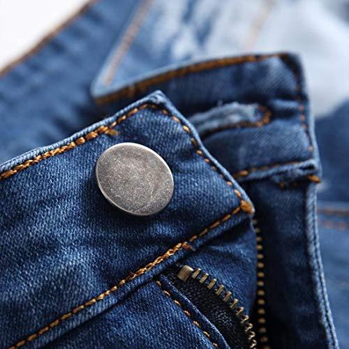 Chic 77 Pantalon Jeune La 28~42 Denim Crumple Hommes Pants Blau Garçons 21 Cowboy Shorts Pour Foncé Zipper Mode Bleu Bolawoo Jeans Vintage De Court P8UZFwddn