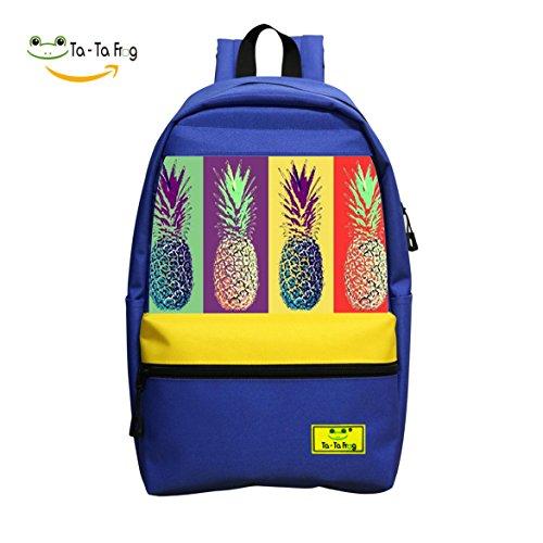 2018 Latest Popular Fashion Pineapple Custom 3D Printing Leisure School Bags - Juice Sunglasses Blue