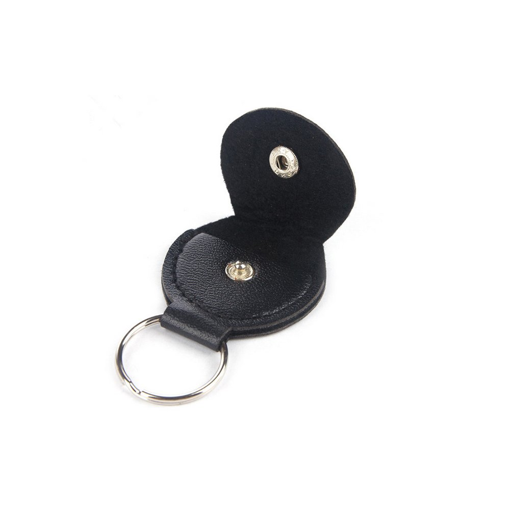 Muxico 1 Pc PU Leather Guitar Pick Clip ,Key Ring,Black 10796289