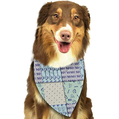 CWWJQ88 Health Care Medicine Pattern Pet Dog Bandana Triangle Bibs Scarf - Easy to Tie On Your Dogs & Cats Pets Animals - Comfortable and Stylish Pet ()