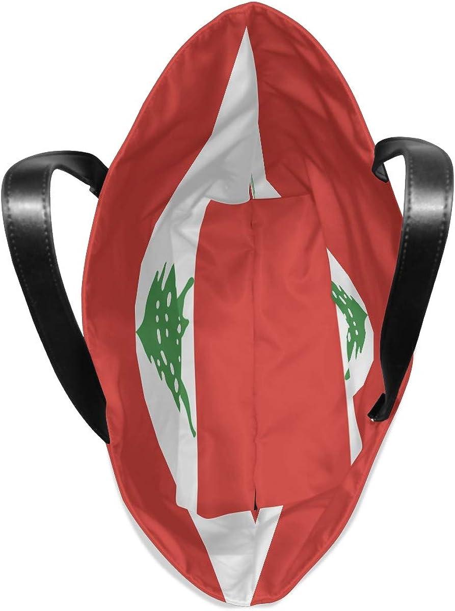 Ainans Kiribati Flag Black Tote Bag Purse Handbag for Women Girls