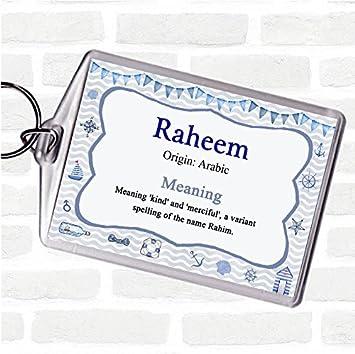 8fb4e77707f939 Raheem Name Meaning Bag Tag Keychain Keyring Nautical: Amazon.co.uk: Office  Products