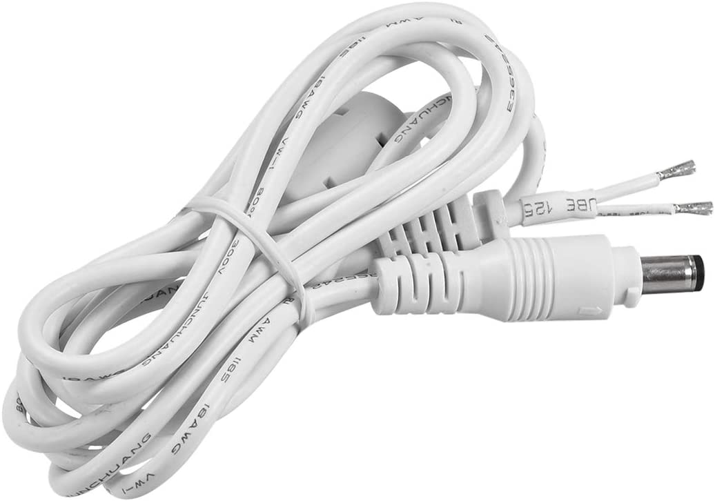 uxcell 2.1M//6.9FT 5.5mm x 2.1mm Male Plug DC Power Adapter Cable Cord White